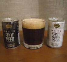 ショットビール Black+White