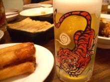 紅虎とビール
