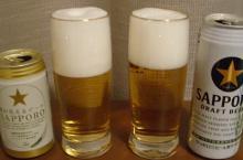 畑が見えるビールと黒ラベル