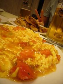 卵とトマトの炒め物&ピース
