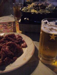 「麦羊亭」 ビール&ジンギスカン