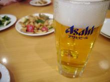 ビールはアサヒスーパードライ