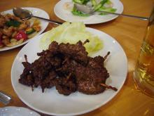 牛肉のクミンピリカラ風味