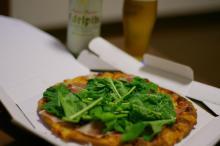ルッコラとイタリア産プロシュートのピザ