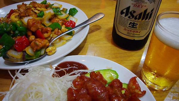 ビール&腸詰&カシューナッツと若鶏の炒め