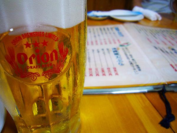 生ビールはオリオン