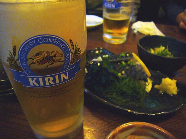 生ビールブログ -とりあえず生!--かわらや ビールはキリン