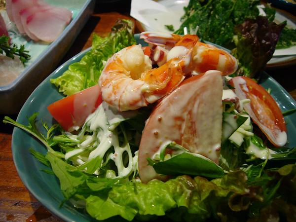 生ビールブログ -とりあえず生!--海鮮サラダ