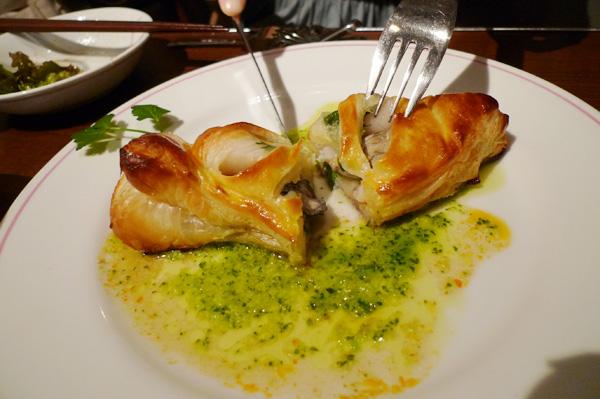 生ビールブログ -とりあえず生!--牡蠣と帆立のパイ包み