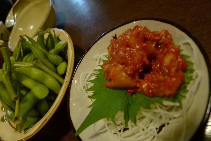 生ビールブログ -とりあえず生!--枝豆&チャンジャ