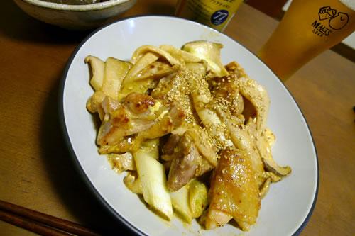 生ビールブログ -とりあえず生!--鶏もも肉のマヨポン酢炒め