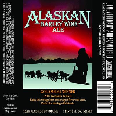 生ビールブログ -とりあえず生!--ALASKAN BARLEY WINE ALE