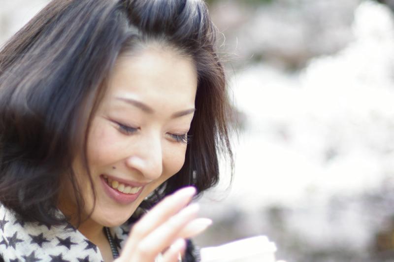 生ビールブログ -とりあえず生!--桜と美人