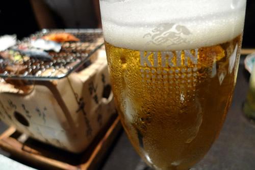銀座 能登輪島 ビールはキリン