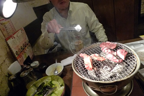 お肉と照明