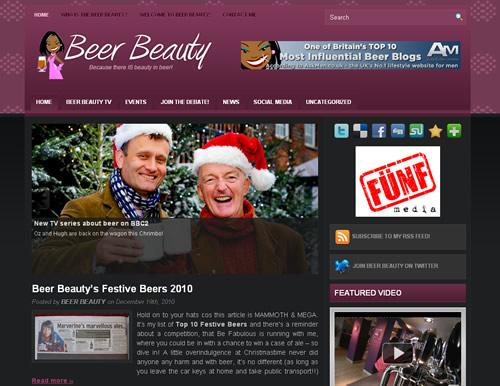 イギリスのサイト BEER BEAUTY