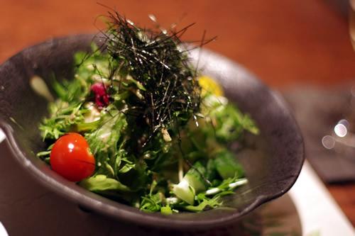 豆富と水菜の京サラダ