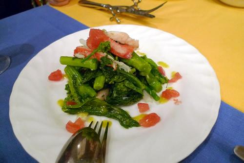 菜の花とズワイガニのサラダ