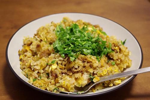 パクパク肉チャーハン(カレー味)