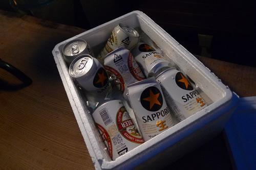 ビール、冷えてます