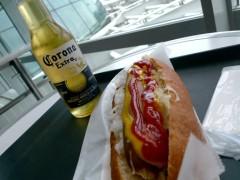 羽田空港でビール!
