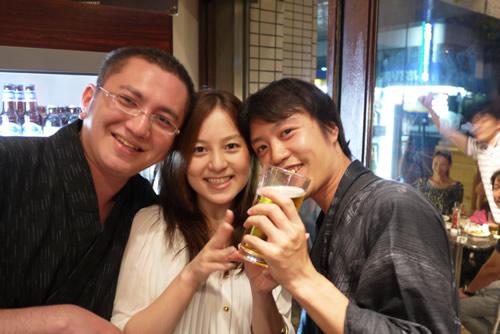 ビール+仲間=笑顔