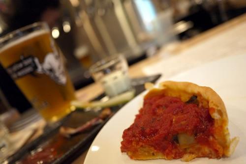シカゴスタイルのピザ