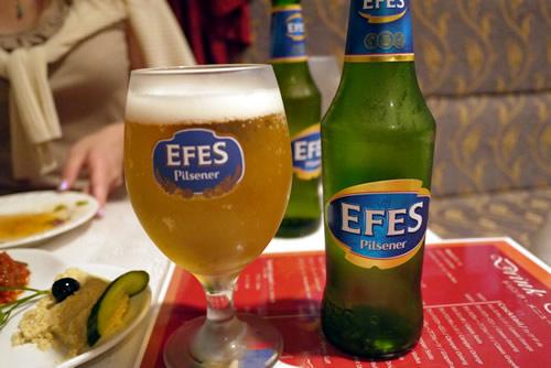 トルコのビール エフェス