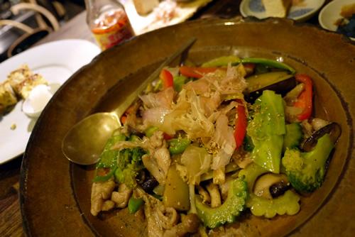 旬野菜と豚肉の塩胡椒炒り