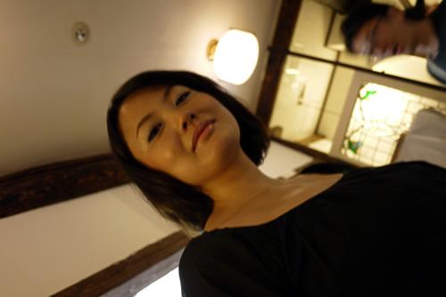 プロのメイクアップ後の麻子さん