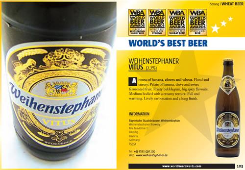 WORLD'S BEST BEER Weihenstephaner Vitus