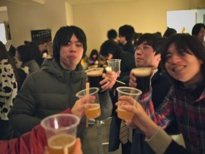 乾杯! みんなお疲れ様! いい笑顔ですね~。