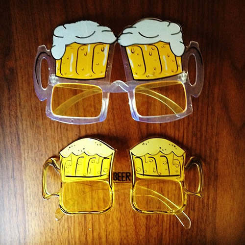 新旧ビールメガネ