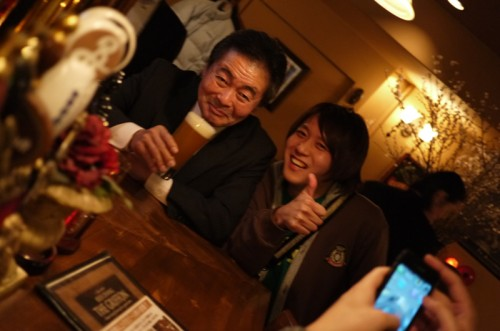 アウグスビール社長と横浜ビール醸造長の五條さん