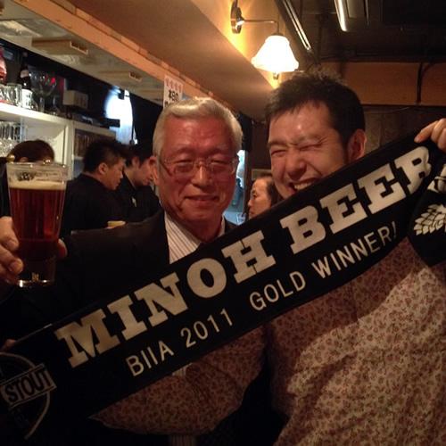 箕面ビールの社長と!