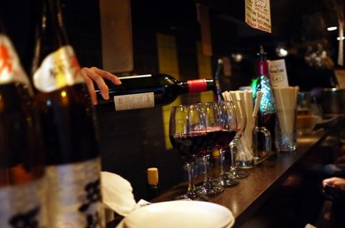 ワインをいただきます。