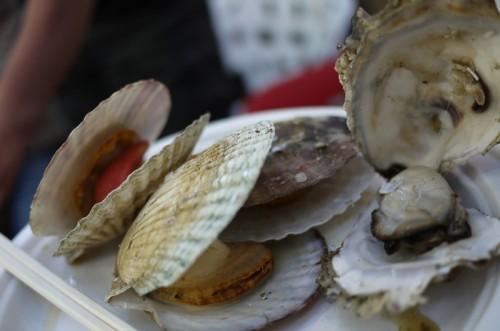 ホタテと牡蠣
