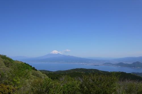 富士山と沼津の街