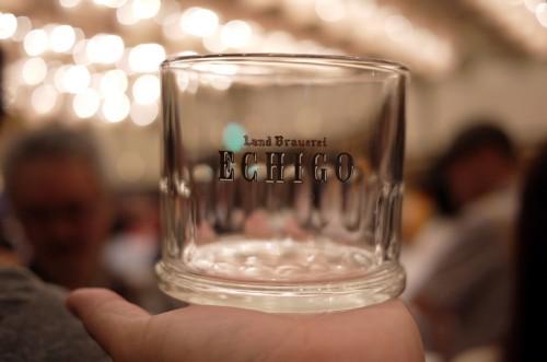 エチゴビールのグラス