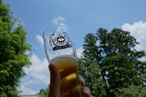 空とビール
