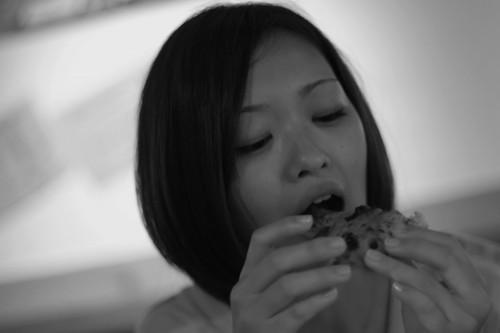 ピザ食べる