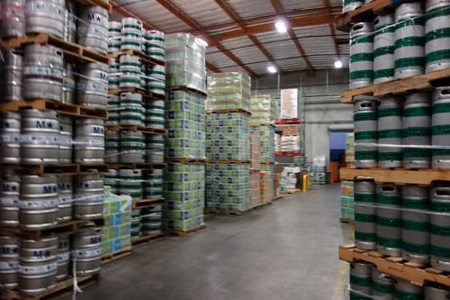 出荷前のビールがいっぱい