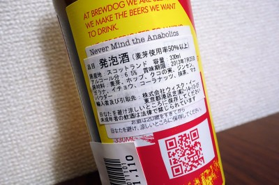 Never Mind The Anabolics 原材料