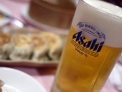 西安刀削麺 吾妻橋店 ビールはアサヒスーパードライ