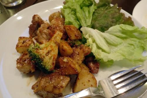 野菜とチキンのマスタード炒め
