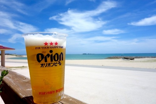 海とオリオンビール