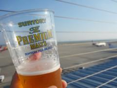 空港でビール!