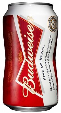 ボウタイ型の缶のバドワイザー