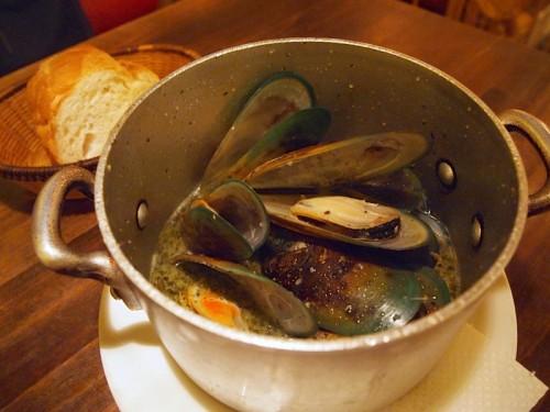 ムール貝のソース蒸しベルジャンスタイル