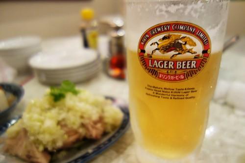 金燕楼 ビールはキリンラガー